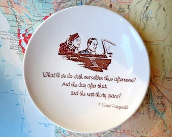F. Scott Fitzgerald . Quote . Great Gatsby . What'll We Do With Ourselves This Afternoon . Ring Dish . Anniversary Gift . Jewelry Dish