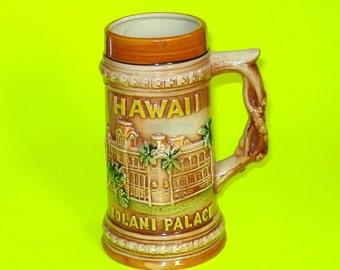 Vintage Hawaii Tiki Souvenir Stein Mug