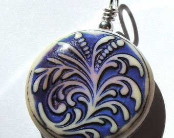 Mood Pendant Fern Mood Color Changing Pendant Wire Wrapped in Sterling Silver