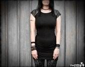 MONO - Black Modern Urban Industrial Dystopia Mini Dress Edgy Cyberpunk