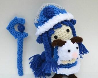 Winter Wonder Lulu League of Legends plush amigurumi crochet doll