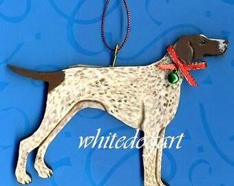 Custom German Shorthaired Pointer Handpainted Christmas Ornament
