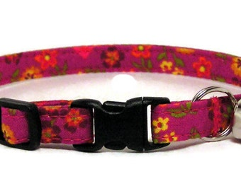Cat Collar - Summertime - Breakaway Safety Cute Fancy Cat Kitten Collar