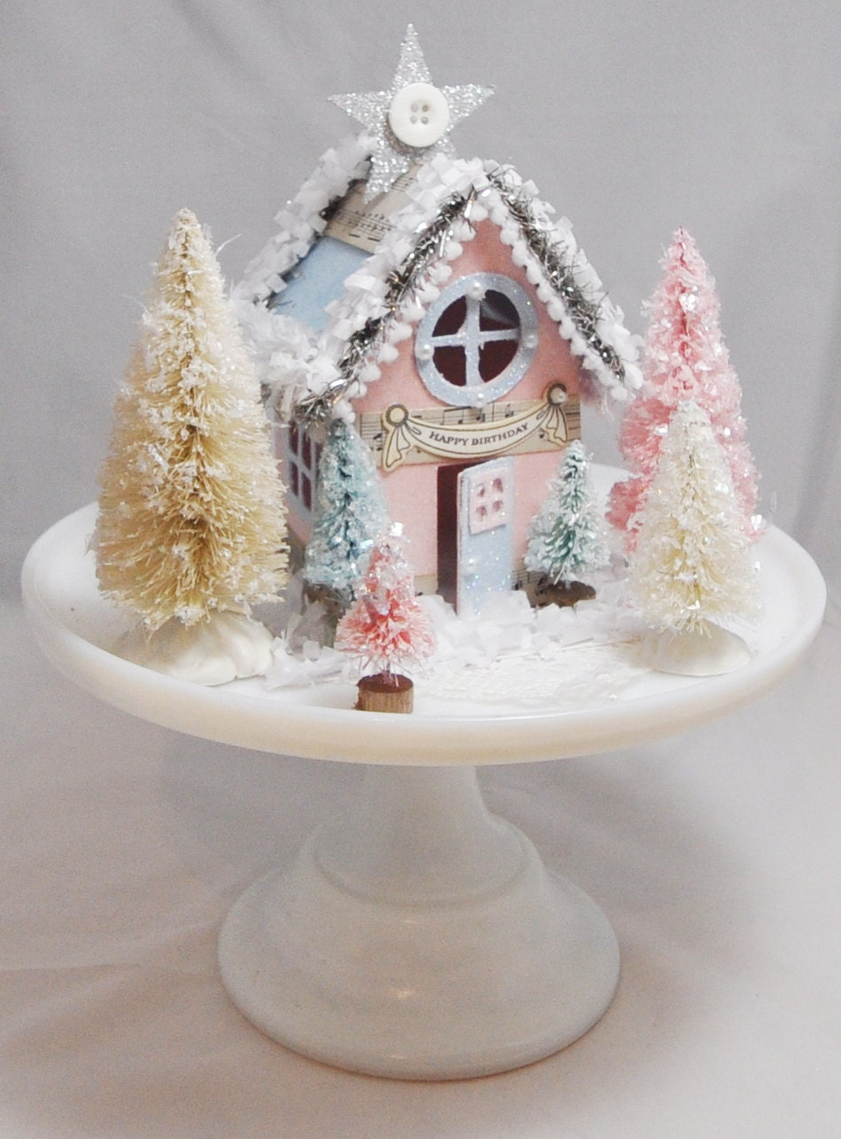 Winter onederland house centerpiece