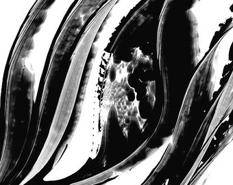 Black and White Painting BW Abstract Art Artwork High Contrast Depth Black Magic 302 Minimalism Minimalist Modern Contemporary Cummings
