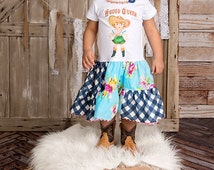 Rodeo Queen Dress Retro Custom Size Newborn to 6/6X Infant Toddler Vintage Cowboy