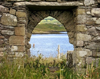 MEDIEVAL Stone Arch at Kilcatherine, Co. CORK, Ireland Photo, Ring of Beara, CELTIC Cross, Rebel County, Rural Graveyard, Beautiful View