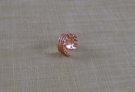 Red Copper Ornate Ear Cuff- Queens Crown