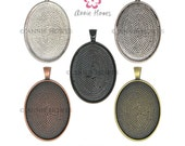 22x30 Oval Pendant Trays to use with Annie Howes 22mm x 30mm Glamour FX Glass Cabochons. 25 Pack