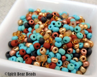 Colorado Morning Seed Bead Mega Mix  6/0 Czech Glass  Loose Beads