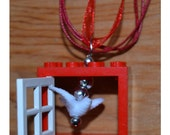 Peace Dove in the Lego Window Necklace