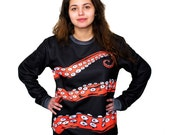 Octopus Sweatshirt, Octohug, Tentacles, Sweater, Warm Long Sleeve, Available S-2XL