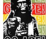 Go Ape! Screent Print by Print Mafia