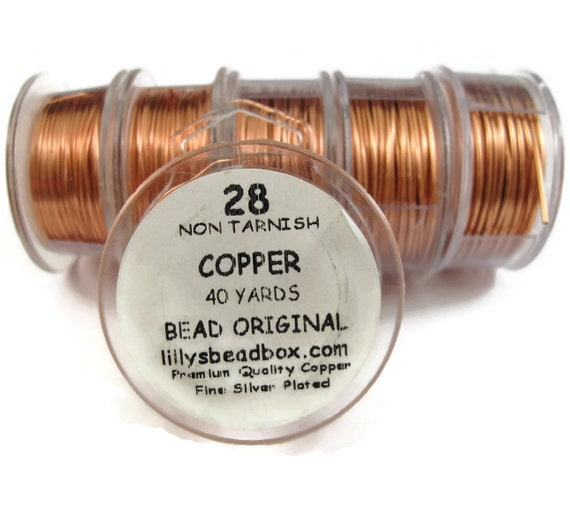 Copper Wire, 28 Gauge, Thin Wire for Making Jewlery, Non Tarnish Wire, Wrapping Supplies, Round Wire for Gemstones and Jewelry Making