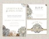 Custom printable DIY wedding invitation