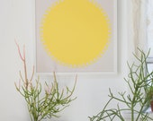 SunScreen Print - brightest yellow art print