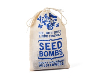 Rocky Mountain Wildflower Seed Bombs - Bird Bee and Butterfly Friendly DIY Guerilla Gardening Seeds Seed Balls