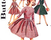 50s Rockabilly dress jacket vintage sewing pattern Flowergirls dress Simplicity 4387 Size 12