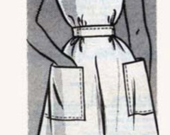 CLEARANCE SALE 1940s Smock APRON Anne Adams Instructor Mail Order  pattern 4784 Vintage 40s Vintge Sewing Pattern Size Small