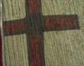 Small Red Stained Glass Cross