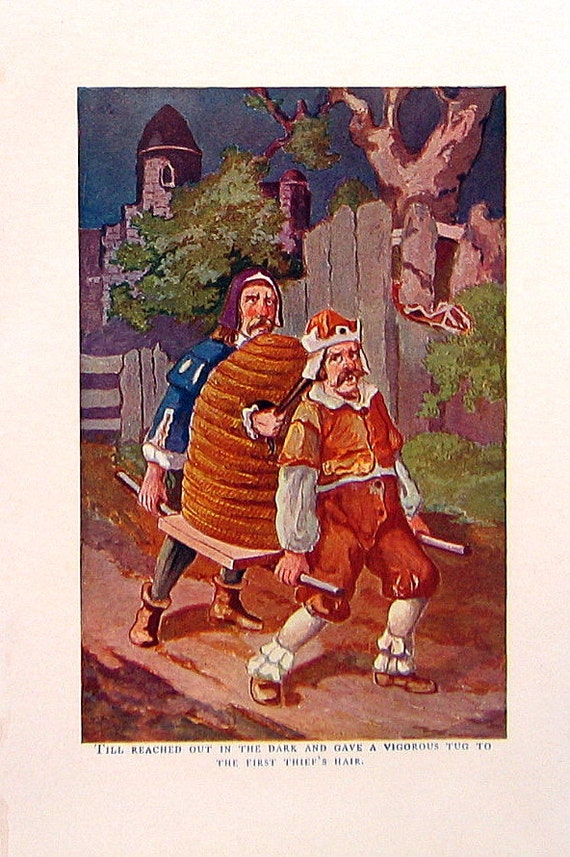 The Thief - 1902 Antique Children's Story Book Psage