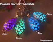 Mermaid Tear Glow Locket® Necklace Glows in the Dark