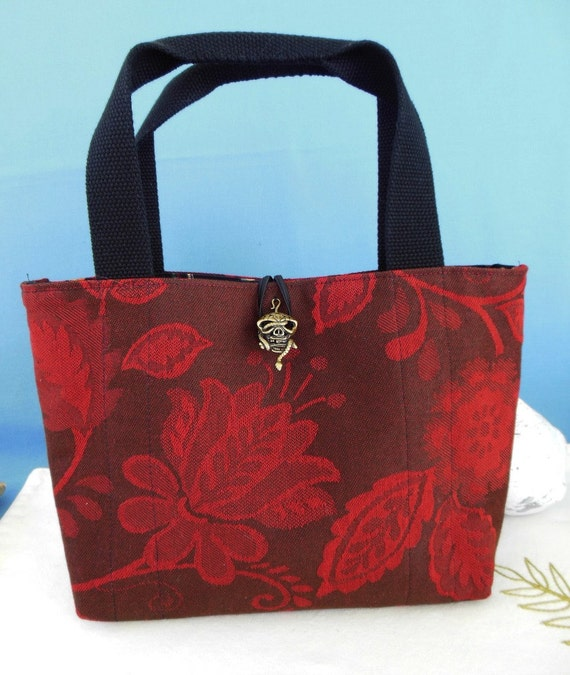 Placemat Purse : Placemat Purse Maroon Jacquard by nitebyrd on Etsy