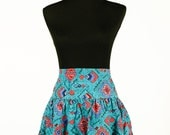Five dollar clearance! Vintage 90's southwestern-print tiered circle skirt