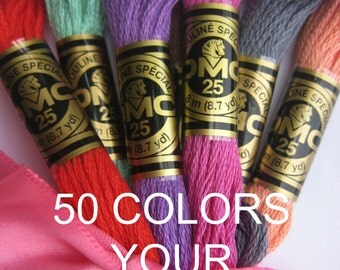 DMC Embroidery Thread - 50 Skeins - your choice