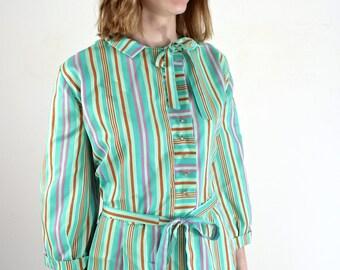 Plus Size Dress • 1950s Dress • 50s XL Dress • Plus Size 1950s Dress • 1950s XL Dress • 50s Day Dress • 1950s Striped Dress • XL 1950s Dress