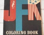 Vintage JFK Coloring Book - 1962 Kanrom - RESERVED until 8/31