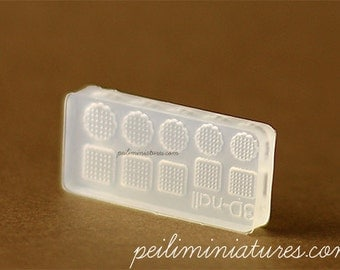 Round and Square Miniature Cookies Mold