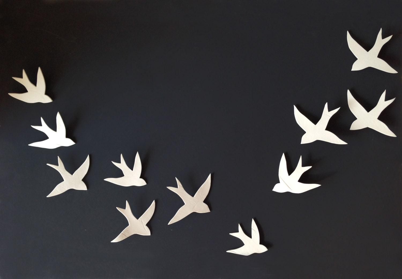 Birds Wall Art flock 11 porcelain ceramic wall art swallows bird wall