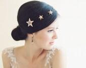 Wedding hair accessory, bridal hair pins, wedding headpiece, stars - Sirius no. 2023