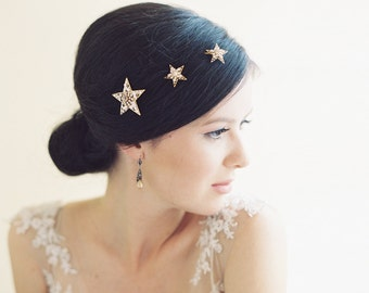 Wedding hair accessory, bridal hair pins, wedding headpiece, stars - Sirius no. 2023
