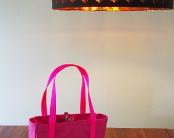 Six Pocket Heavy Duty Tote | Hot Pink Water Resistant Canvas