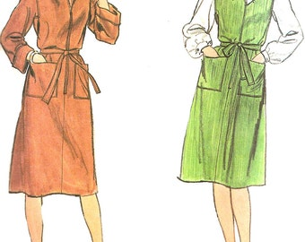 1980s Dress Pattern Butterick Jumper Pullover Vintage Sewing Women's Misses Size 16 Bust 38 Inches