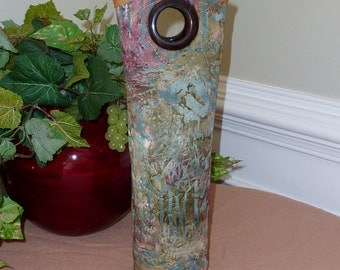 Insulated Wine Tote - Batik Abstract Print