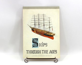 1970s Ships Through the Ages Calendar 12 Boat & Historical Ship Prints