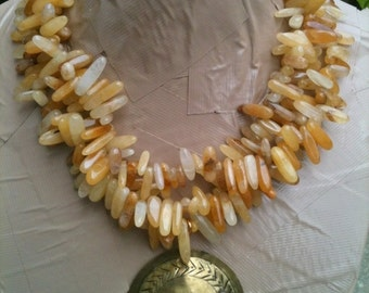 ON SALE HALLE agate statement necklace