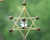 Tigers Eye - Protection - Gem Star Merkaba Suncatcher / Pendulum
