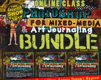 Photoshop for Mixed-Media and Art Journaling Class Bundle