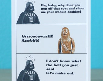 Star Wars Darth Vader Birthday card any occasion anniversary - Star Wars birthday star wars gift star wars present