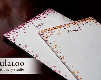 Confetti Personalized Notepad