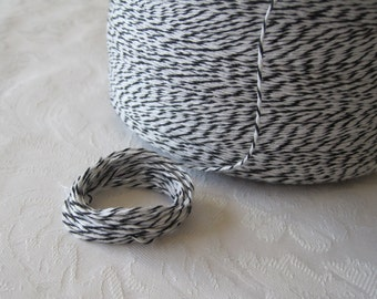 Cotton Twine, Black Twine, Bakers Twine, Colored String, Box Twine, Bakery Twine, Gift Wrapping, Gift Wrap, On Wood Spool, 50 Yards