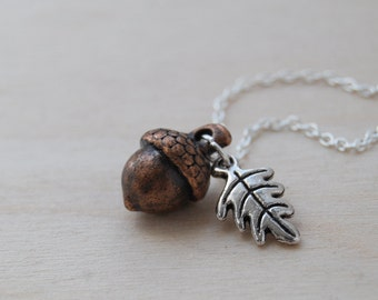 Forest Acorn Charm Necklace