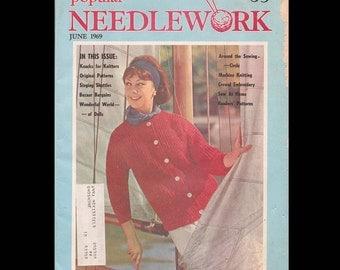 Popular Needlework - Vintage Craft Magazine c. June 1969