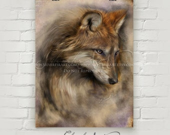 Ava... Wolf... XL Giclee Print...  Wildlife Study Painting Print...Wolves... You Choose Size