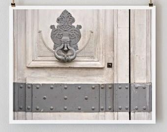 SALE! Paris Photography Gray Door Paris Print, Large Art Print Fine Art Photography, Affordable Wall Art, Old Door