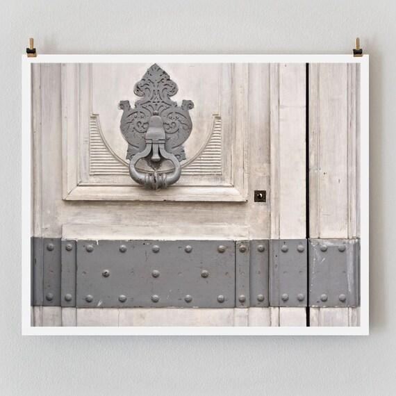 Paris Photography Gray Door Paris Print, Large Art Print Fine Art Photography, Affordable Wall Art, Old Door